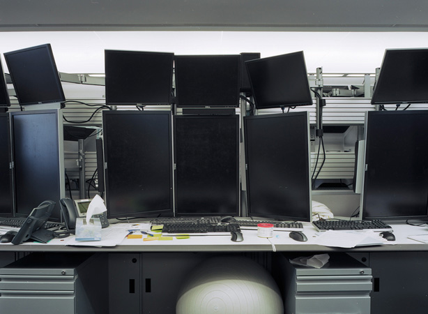 &quot;High-frequency trading work space 3, Willis Tower, Chicago&quot; <br />2010, Inkjet-print, 100 x 135 cm