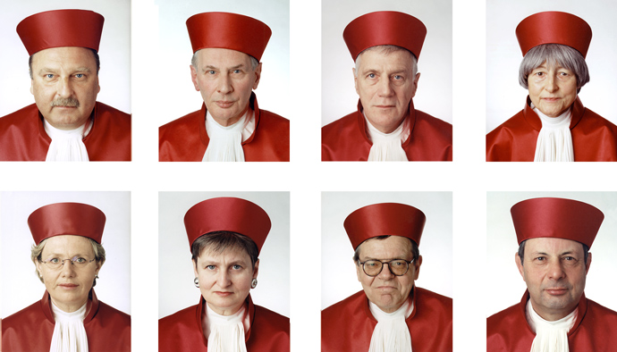 """1st Senate of the Bundesverfassungsgericht, Karlsruhe, Germany"", 1999, C-print, 90 x 80 cm each"
