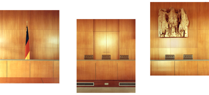"""Court room"", 1999, C-print, 90 x 80 cm each"